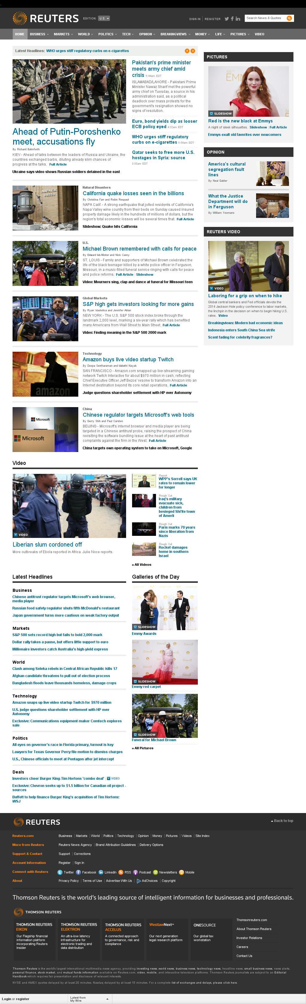 Reuters at Tuesday Aug. 26, 2014, 10:14 a.m. UTC