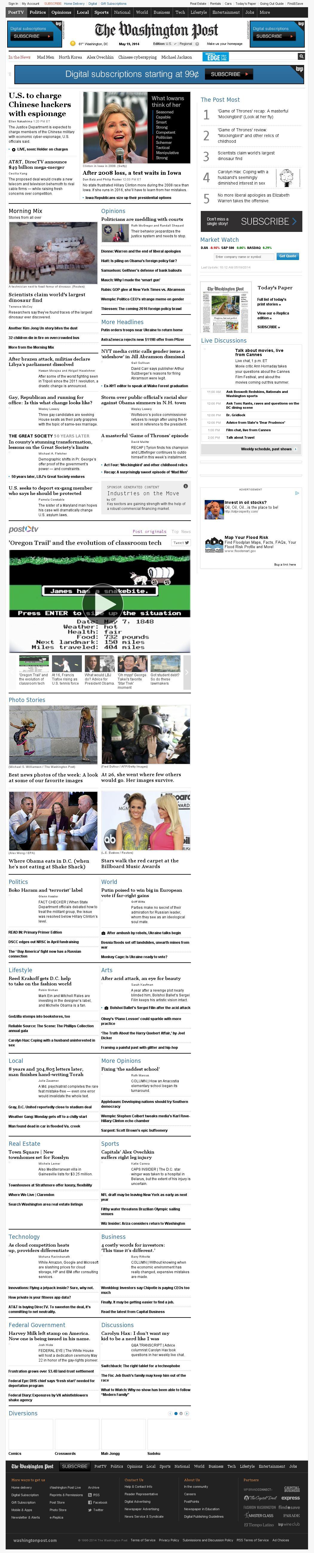 The Washington Post at Monday May 19, 2014, 2:24 p.m. UTC