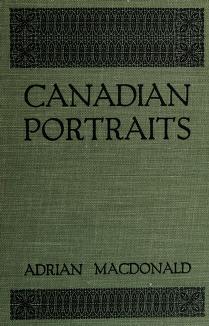 Cover of: Canadian portraits | Adrian Macdonald
