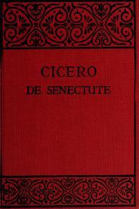 Cover of: Cato major de senectute | Cicero