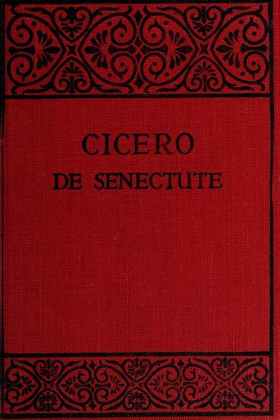 Cato major de senectute by Cicero