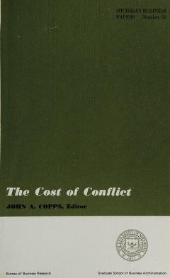 Cover of: The Cost of conflict | John A. Copps, editor.