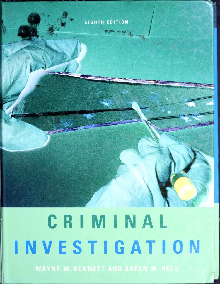 Criminal Investigation by