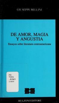 Cover of: De amor, magia y angustia | Giuseppe Bellini
