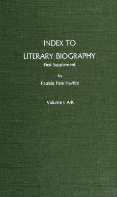 Cover of: Index to Literary Biography | Patricia Pate Havlice