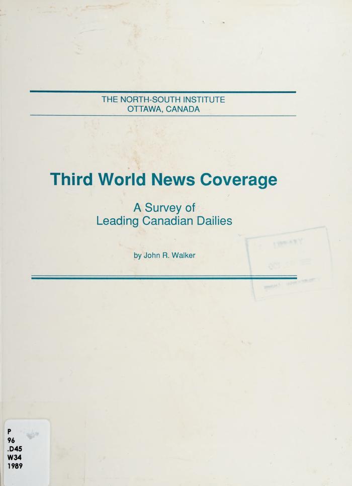 Third World news coverage by Walker, John R.